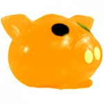 Orange Pig Splat Back